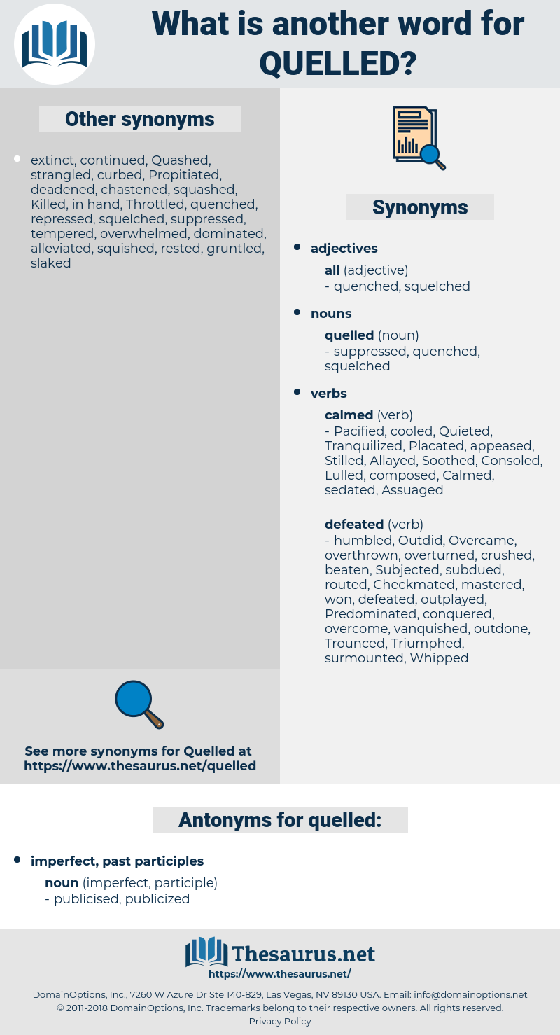 quelled, synonym quelled, another word for quelled, words like quelled, thesaurus quelled