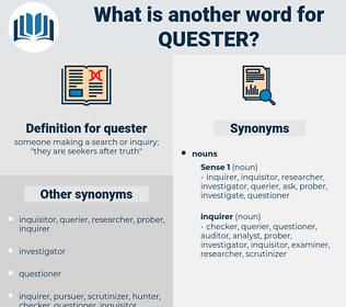 quester, synonym quester, another word for quester, words like quester, thesaurus quester