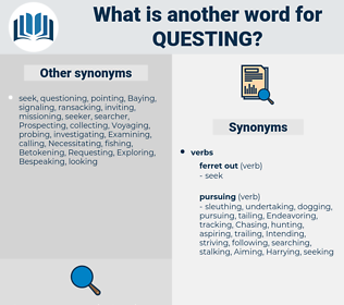 questing, synonym questing, another word for questing, words like questing, thesaurus questing