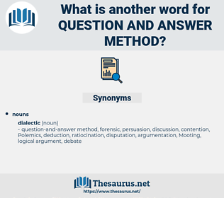 question-and-answer method, synonym question-and-answer method, another word for question-and-answer method, words like question-and-answer method, thesaurus question-and-answer method