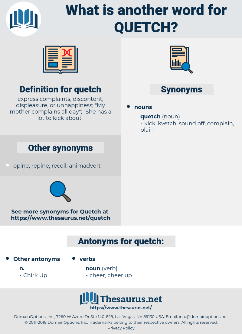 quetch, synonym quetch, another word for quetch, words like quetch, thesaurus quetch