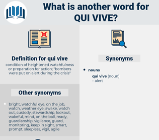qui vive, synonym qui vive, another word for qui vive, words like qui vive, thesaurus qui vive