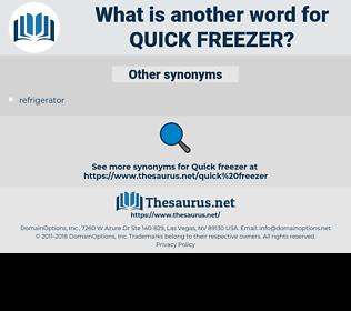quick freezer, synonym quick freezer, another word for quick freezer, words like quick freezer, thesaurus quick freezer