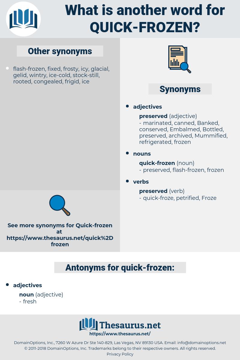quick-frozen, synonym quick-frozen, another word for quick-frozen, words like quick-frozen, thesaurus quick-frozen