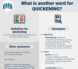 quickening, synonym quickening, another word for quickening, words like quickening, thesaurus quickening