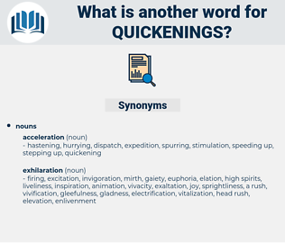 quickenings, synonym quickenings, another word for quickenings, words like quickenings, thesaurus quickenings