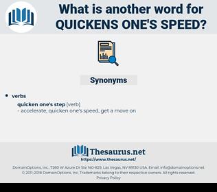 quickens one's speed, synonym quickens one's speed, another word for quickens one's speed, words like quickens one's speed, thesaurus quickens one's speed