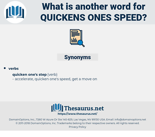 quickens ones speed, synonym quickens ones speed, another word for quickens ones speed, words like quickens ones speed, thesaurus quickens ones speed
