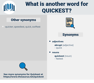 quickest, synonym quickest, another word for quickest, words like quickest, thesaurus quickest