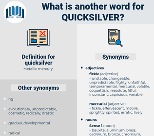 quicksilver, synonym quicksilver, another word for quicksilver, words like quicksilver, thesaurus quicksilver
