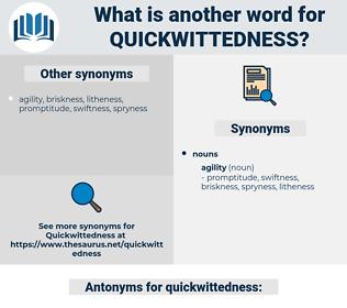 quickwittedness, synonym quickwittedness, another word for quickwittedness, words like quickwittedness, thesaurus quickwittedness