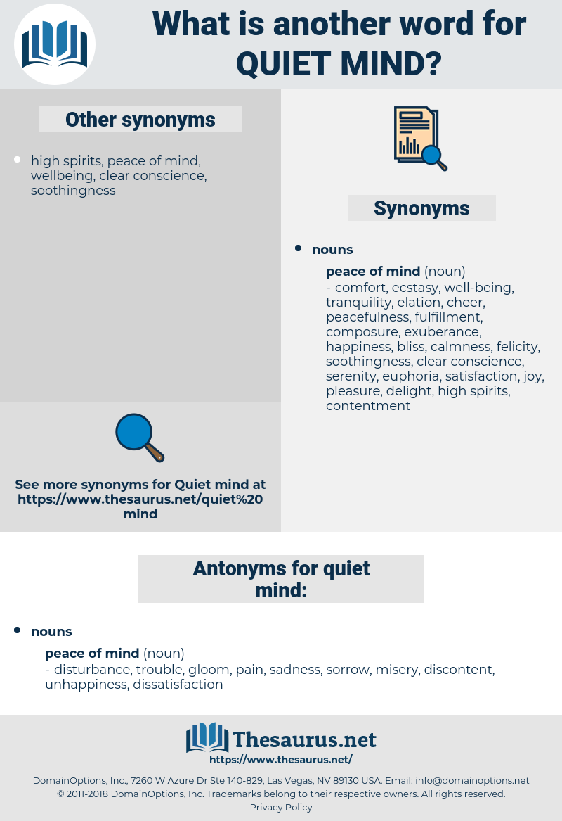 quiet mind, synonym quiet mind, another word for quiet mind, words like quiet mind, thesaurus quiet mind