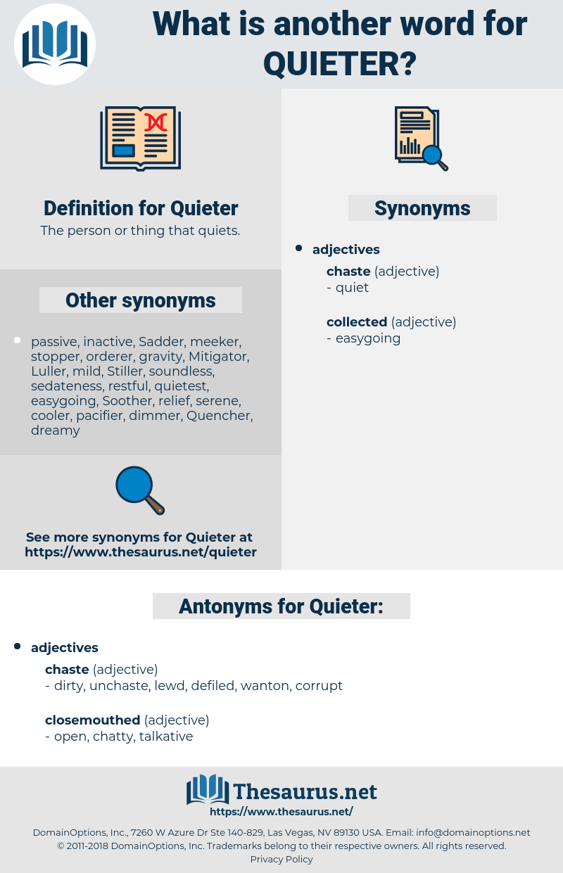 Quieter, synonym Quieter, another word for Quieter, words like Quieter, thesaurus Quieter