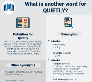 quietly, synonym quietly, another word for quietly, words like quietly, thesaurus quietly