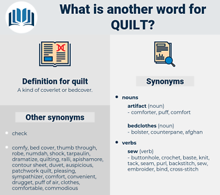 quilt, synonym quilt, another word for quilt, words like quilt, thesaurus quilt