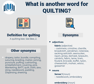 quilting, synonym quilting, another word for quilting, words like quilting, thesaurus quilting