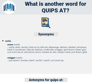 quips at, synonym quips at, another word for quips at, words like quips at, thesaurus quips at