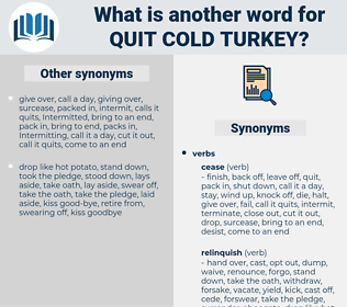 quit cold turkey, synonym quit cold turkey, another word for quit cold turkey, words like quit cold turkey, thesaurus quit cold turkey