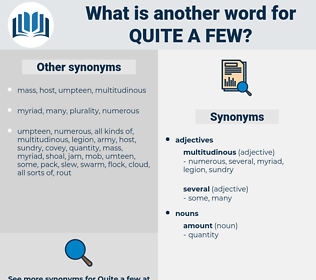 quite a few, synonym quite a few, another word for quite a few, words like quite a few, thesaurus quite a few