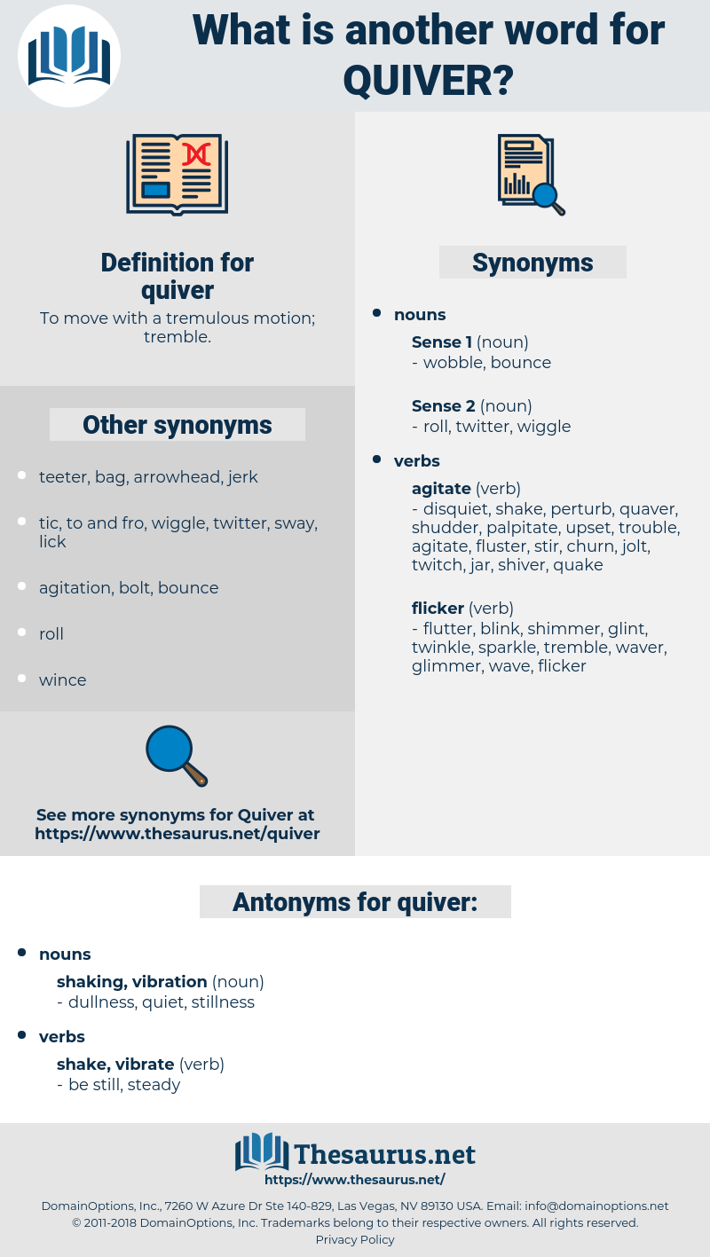 quiver, synonym quiver, another word for quiver, words like quiver, thesaurus quiver
