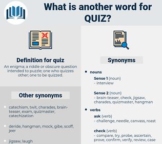 quiz, synonym quiz, another word for quiz, words like quiz, thesaurus quiz