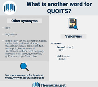 quoits, synonym quoits, another word for quoits, words like quoits, thesaurus quoits