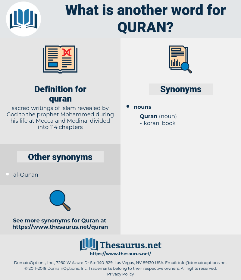 quran, synonym quran, another word for quran, words like quran, thesaurus quran