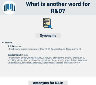 R&D, synonym R&D, another word for R&D, words like R&D, thesaurus R&D