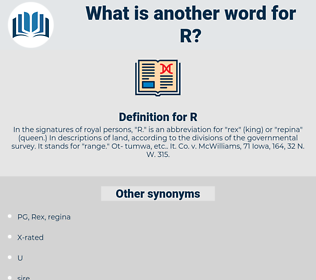 R, synonym R, another word for R, words like R, thesaurus R
