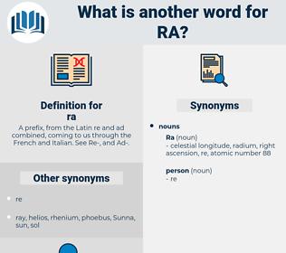 ra, synonym ra, another word for ra, words like ra, thesaurus ra