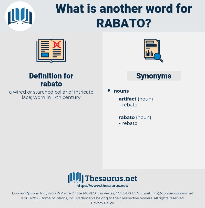 rabato, synonym rabato, another word for rabato, words like rabato, thesaurus rabato