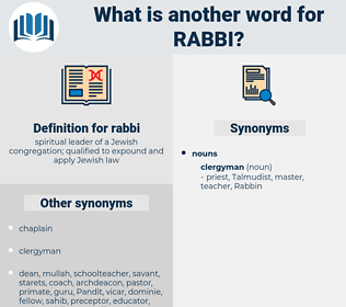 rabbi, synonym rabbi, another word for rabbi, words like rabbi, thesaurus rabbi