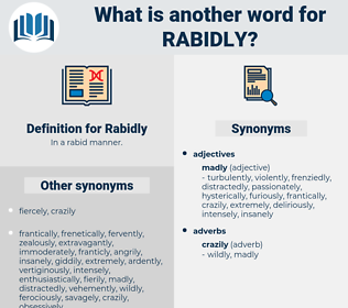 Rabidly, synonym Rabidly, another word for Rabidly, words like Rabidly, thesaurus Rabidly