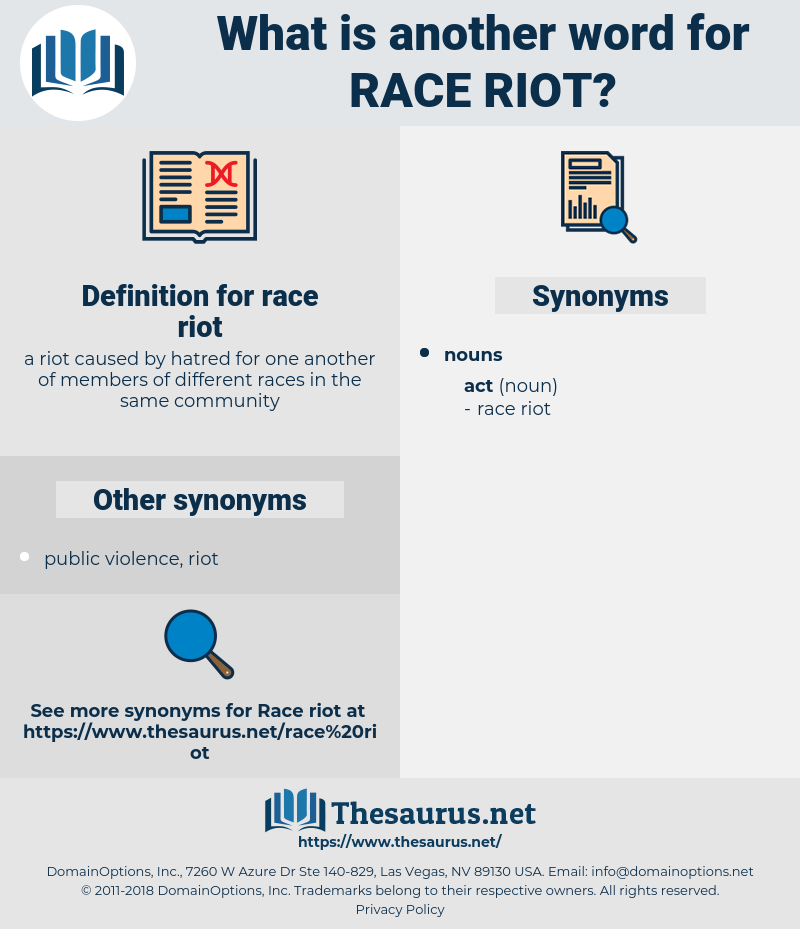 race riot, synonym race riot, another word for race riot, words like race riot, thesaurus race riot