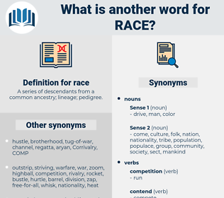 race, synonym race, another word for race, words like race, thesaurus race
