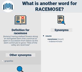 racemose, synonym racemose, another word for racemose, words like racemose, thesaurus racemose