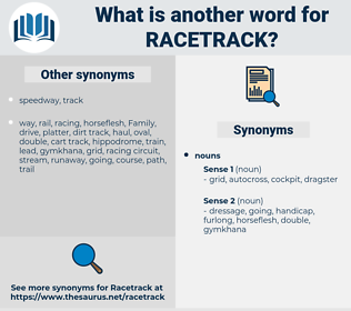 racetrack, synonym racetrack, another word for racetrack, words like racetrack, thesaurus racetrack