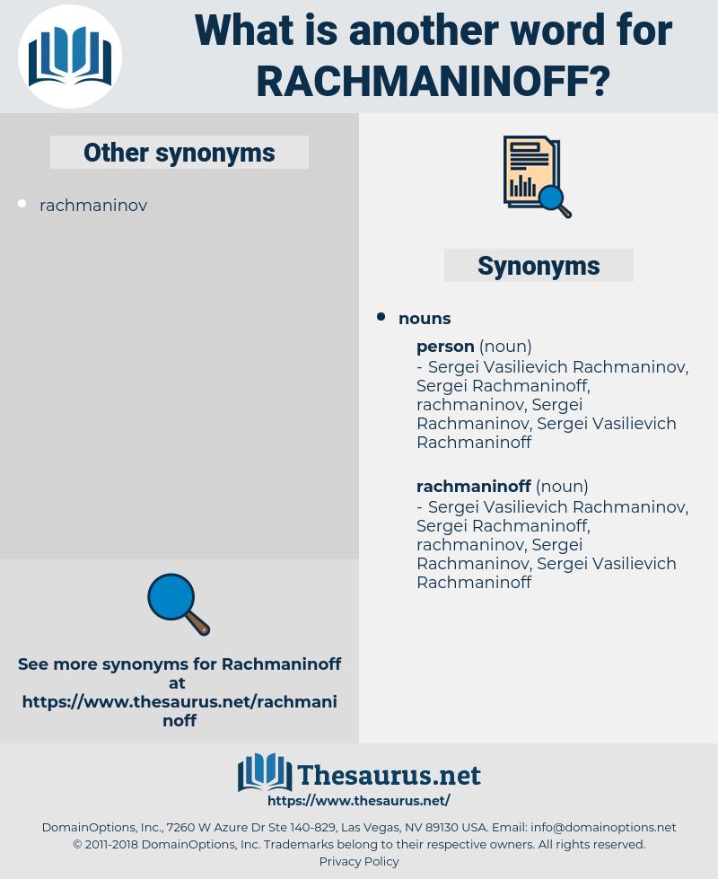 rachmaninoff, synonym rachmaninoff, another word for rachmaninoff, words like rachmaninoff, thesaurus rachmaninoff