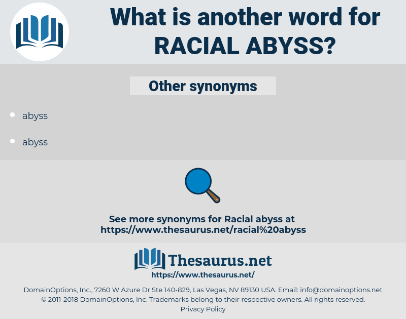 racial abyss, synonym racial abyss, another word for racial abyss, words like racial abyss, thesaurus racial abyss