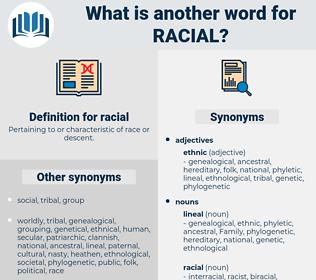 racial, synonym racial, another word for racial, words like racial, thesaurus racial