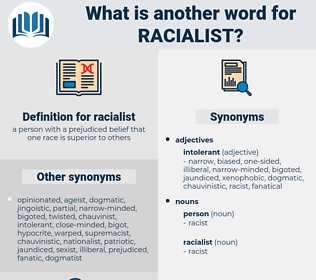 racialist, synonym racialist, another word for racialist, words like racialist, thesaurus racialist