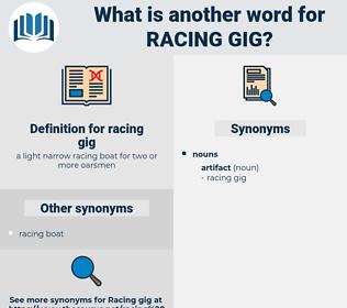 racing gig, synonym racing gig, another word for racing gig, words like racing gig, thesaurus racing gig