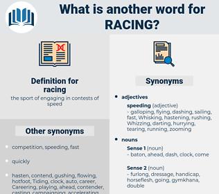 racing, synonym racing, another word for racing, words like racing, thesaurus racing