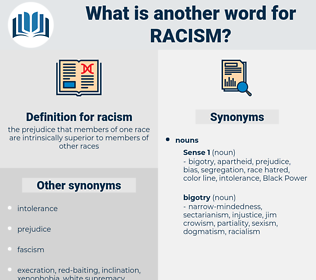 racism, synonym racism, another word for racism, words like racism, thesaurus racism