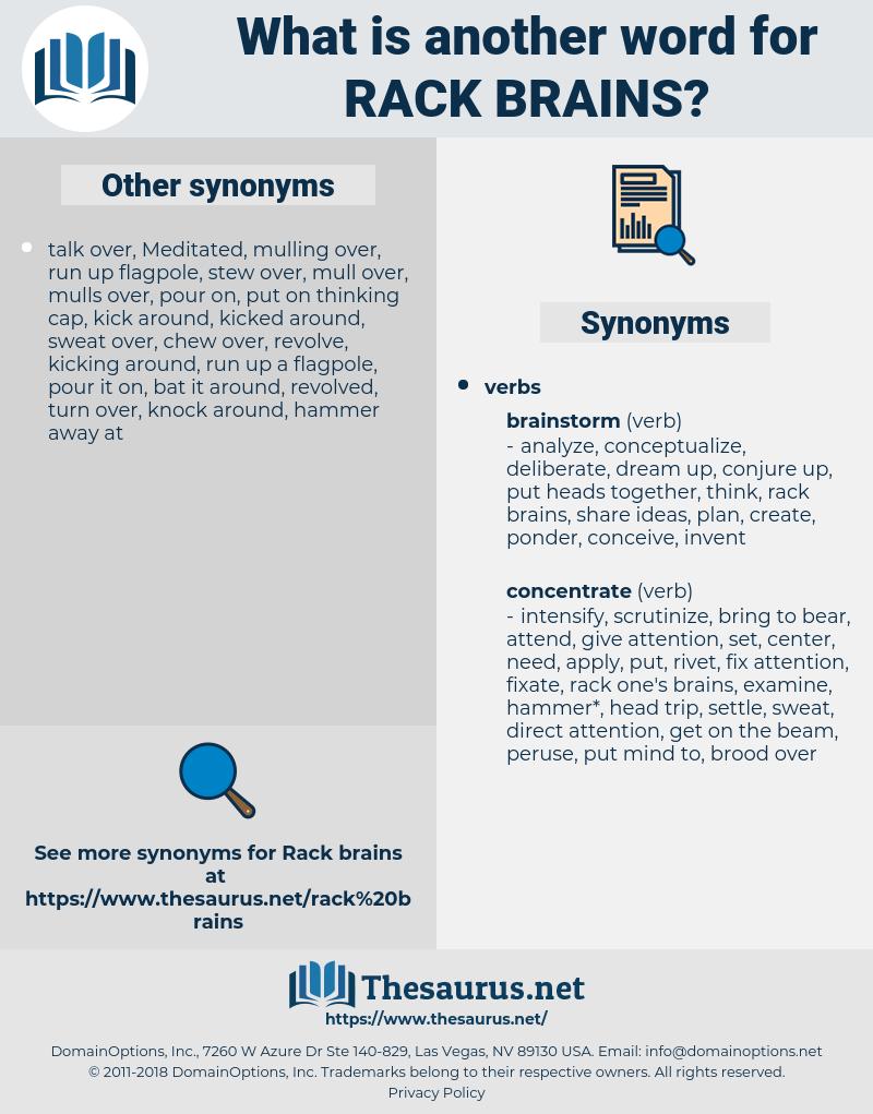 rack brains, synonym rack brains, another word for rack brains, words like rack brains, thesaurus rack brains