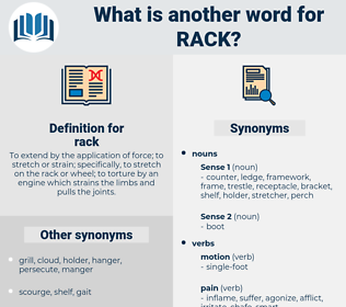 rack, synonym rack, another word for rack, words like rack, thesaurus rack