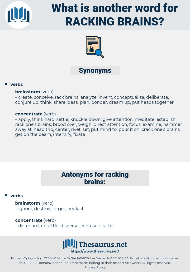 racking brains, synonym racking brains, another word for racking brains, words like racking brains, thesaurus racking brains
