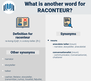 raconteur, synonym raconteur, another word for raconteur, words like raconteur, thesaurus raconteur