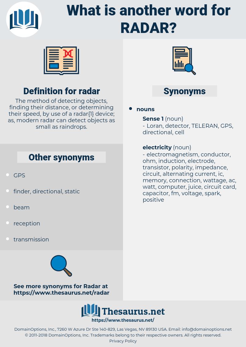 radar, synonym radar, another word for radar, words like radar, thesaurus radar