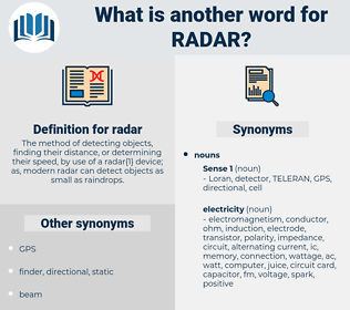 radar, synonym radar, another word for radar, words like radar, thesaurus radar